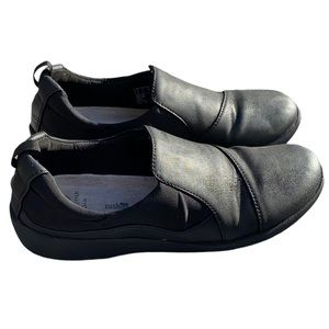Clarks, Cloudsteppers, black loafers, size 7 1/2